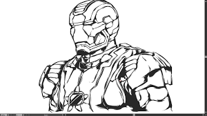 Coloring Pages Iron Man Logo
