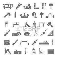 Black Icons Traditional Woodworking Tools Royalty Free Cliparts Vectors And Stock Illustration Image 40301665