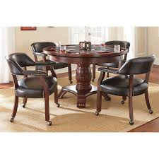 Shop Gracewood Hollow Djaout 5-piece Game Table - Free Shipping ... Tommy Bahama Home Island Estate 53198201 Bquick Shipb Samba Amazoncom Made In Usa Rattan Chiba Ding Caster Chair Table Octagon Shape Game And Four Chairs With Casters By Drexel Ebth Rollers Rolling Leather Sunny Designs Santa Fe 1412dcb With John V Rollers Rolling Game Chairs Leather Hillsdale Fniture Park View Medium Brown Oak And Cr87711 Gaming Gray Wood Nailheads Upholstered Wheels Coaster Mitchelloak 5 Piece 3in1 Set Alkar Billiards Rustic W Cushion Seat Wolf Room Wooden