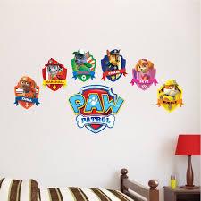 Paw Patrol Logo Wall Decal Paw Patrol Kids Bedroom Wall Paw