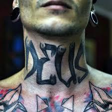 Amazing Tattoos Neck Street Art Graffiti Tag