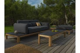 pouf pour canapé canapé structure en teck tekura les jardins