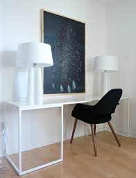 remodelaholic how to build a desk with wood top and metal legs