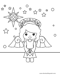 Astonishing Christmas Angels Coloring Page With Angel Pages And For Preschool