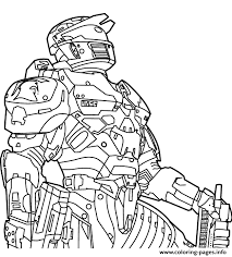 Free Halo Sheets Coloring Pages Printable