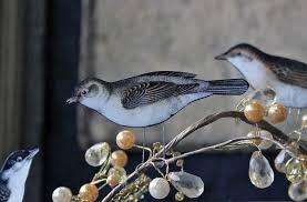 Paper Craft Perching Birds