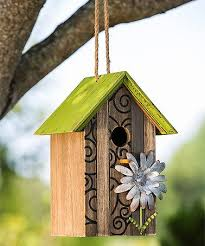 This Charming Bird House Enhances Your Outdoor Space In Whimsical And Rustic Style