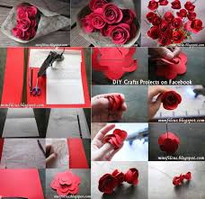 How To Make Easy Paper Rose Flowers Step By 148306