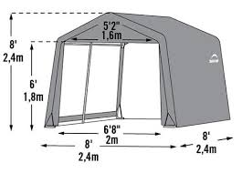 shelterlogic 8x8x8 shed in a box fabric shed kit 70423