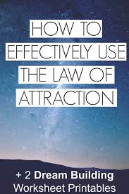 How To Effectively Use The Law Of Attraction 2 Free Dream Building Worksheet Printables