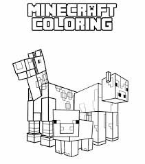 Minecraft Coloring Pages Wolf