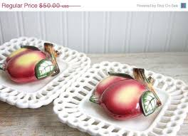 Antique Wall Pockets With Apples Vintage Fruit Scalloped Edges Apple Decor Country Chic Home Kitchen
