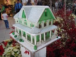 Green Gingerbread House Cleveland Botanical Garden Glow