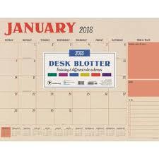 Decorative Desk Blotter Calendars by Desktop Calendar Calendars U0026 Planners Target
