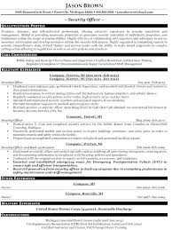 Entry Level Police Officer Resume Example Sample Template For Retired Law Enforcement