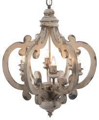 Crown Wood and Metal Chandelier Farmhouse Chandeliers by