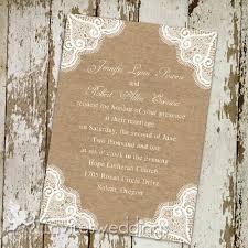 Inexpensive Rustic Lace Burlap Wedding Invitations IWI262