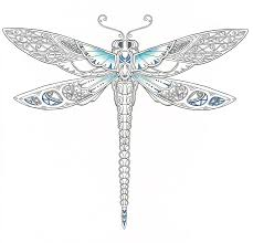 Coloring Books For Adults Dragonfly Water Castle Peacock
