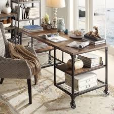 Interior Design Rustic Lodge Furniture Barnwood Desk Mirror Leather Small Corner Home