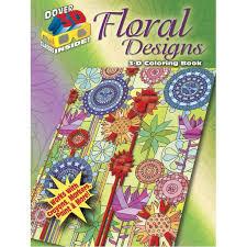 Dover 3D Floral Designs Coloring Book