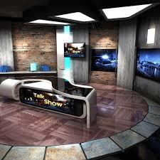 Maya Virtual Set Talkshows Studio Virtual Sets Virtual