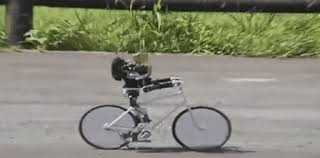 Robot Bicycle GIF