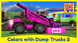 100 Pink Dump Truck Learn Colors With S Part 2 Educational Video For Kids By