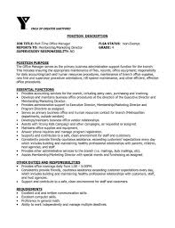 Manager Resume Examples Sample Job Description Rhcheapjordanretrosus Inspirational Professional Church Office