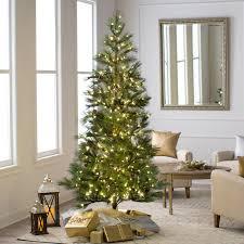 Christmas Trees Prelit Led by 7 5 U0027 Pre Lit Oregon Fir Instant Shape Medium Artificial Christmas