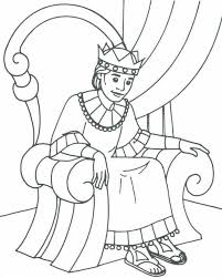 Bible David As King Coloring Pages
