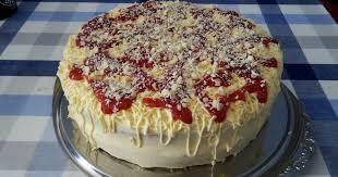 erdbeer spaghettieis torte leckere rezepte