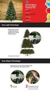 Shop GE 75 Ft Pre Lit Colorado Spruce Artificial Christmas Tree