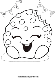 Trendy Design Shopkins Coloring Pages Free Kooky Cookie Page Com