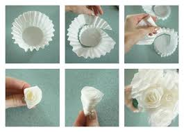 Paper Rose Flowers Step By The Best Way To Make Coffee Filter Roses With Stepstep Pictures Intended For How