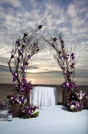 Rustic Floral Wedding Ceremony Arch