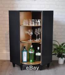 Upcycled Vintage Mid Century Beaver Tapley Corner Drinks Cabinet Cocktail Bar