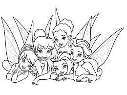 Disney Fairies Picture Of Beautiful Coloring Page