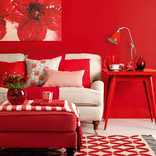 Red Living Room Ideas Uk by How To Decorate With Red Ideal Home