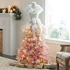 5 FT PINK OMBRE DRESS FORM MANNEQUIN CHRISTMAS HOLIDAY PRELIT TREE STORE FRONT COMMERCIAL QUALITY