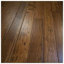 Rustic Wood Flooring Hickory Hand Scraped Solid 5 Hole Sample Texture