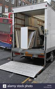 100 Cheap Moving Truck Rental With Lift Ramp Parket At Busy Street Stock Photo