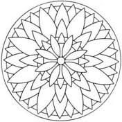 Easy Mandala With Flower Coloring Page