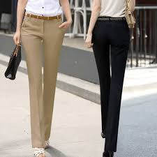 Fashion 2018 Women Pants Spring Summer Plus Size Formal Ol Pant Casual Slim Work Wear