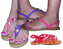 final sale pretty shiny sparkly purple or pink sandal flat shoes