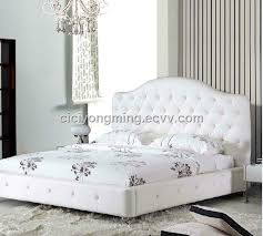 Black Leather Headboard With Diamonds by Brilliant White Leather Diamond Bed For Home And Hotel In Beds