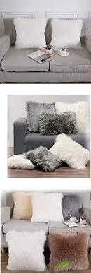 kuschelige langhaar deko kissen lounge kissen moderne
