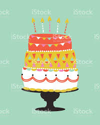 Birthday Cake royalty free stock vector art