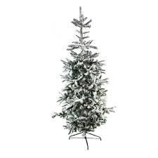 75 Pre Lit Noble Fir Flocked Artificial Christmas Tree