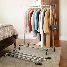 Clothes Rack - Chrome Metal Folding Commercial Clothes Rack | The ...