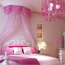 Non Woven Wallpaper Rustic Child Real Girl Pink Purple Kids Bedroom